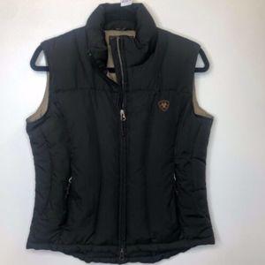 Womens Ariat Black Down Puffer Vest (284)